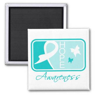 Polycystic Kidney Disease Hope Awareness Tile Refrigerator Magnet