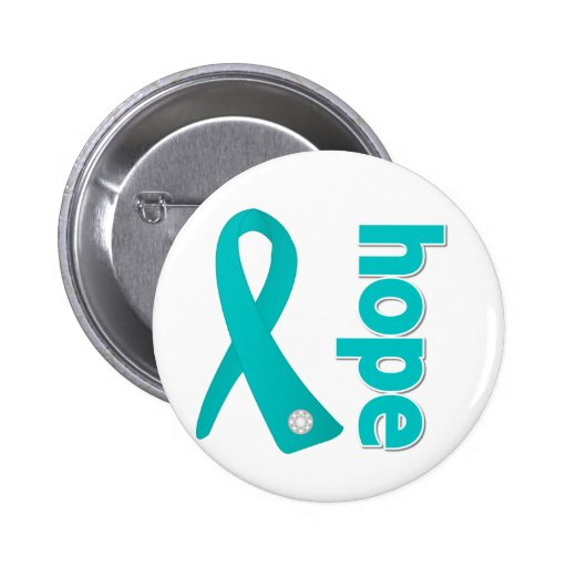 Polycystic Kidney Disease Hope Ribbon 2 Inch Round Button