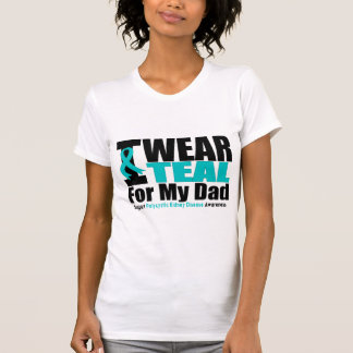 Polycystic Kidney Disease I Wear Teal For My Dad T-Shirt