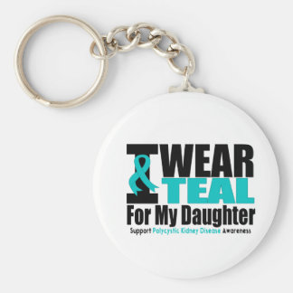 Polycystic Kidney Disease I Wear Teal For My Daugh Keychain