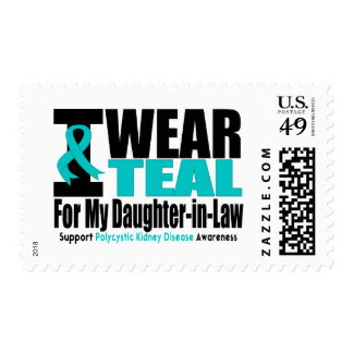 Polycystic Kidney Disease I Wear Teal For My Daugh Stamps