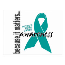Polycystic Kidney Disease PKD Awareness Postcard