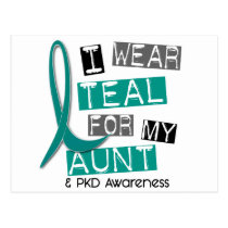 Polycystic Kidney Disease PKD Teal For Aunt 37 Postcard