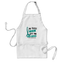 Polycystic Kidney Disease PKD Teal For Best Friend Adult Apron