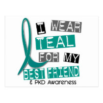 Polycystic Kidney Disease PKD Teal For Best Friend Postcard
