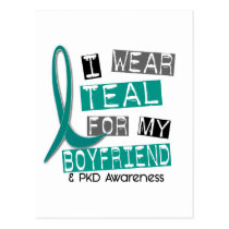Polycystic Kidney Disease PKD Teal For Boyfriend 3 Postcard