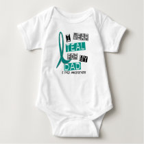 Polycystic Kidney Disease PKD Teal For Dad 37 Baby Bodysuit