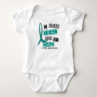 Polycystic Kidney Disease PKD Teal For Dad 37 Baby Bodysuit
