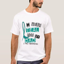 Polycystic Kidney Disease PKD Teal For Dad 37 T-Shirt