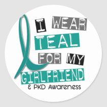 Polycystic Kidney Disease PKD Teal For Girlfriend Classic Round Sticker