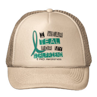 Polycystic Kidney Disease PKD Teal For Girlfriend Trucker Hat