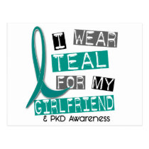 Polycystic Kidney Disease PKD Teal For Girlfriend Postcard