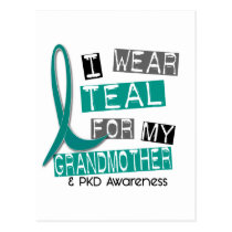 Polycystic Kidney Disease PKD Teal For Grandmother Postcard