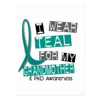 Polycystic Kidney Disease PKD Teal For Grandmother Postcard