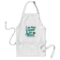 Polycystic Kidney Disease PKD Teal For Grandpa 37 Adult Apron