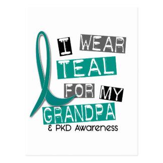 Polycystic Kidney Disease PKD Teal For Grandpa 37 Postcard
