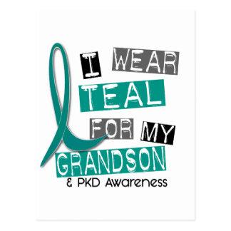 Polycystic Kidney Disease PKD Teal For Grandson 37 Postcard