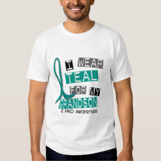 Polycystic Kidney Disease PKD Teal For Grandson 37 Shirts