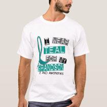 Polycystic Kidney Disease PKD Teal For Grandson 37 T-Shirt