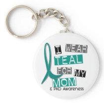 Polycystic Kidney Disease PKD Teal For Mom 37 Keychain