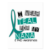 Polycystic Kidney Disease PKD Teal For Nana 37 Postcard
