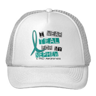 Polycystic Kidney Disease PKD Teal For Nephew 37 Trucker Hat