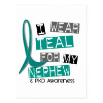 Polycystic Kidney Disease PKD Teal For Nephew 37 Postcard