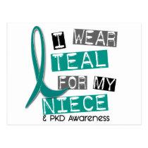 Polycystic Kidney Disease PKD Teal For Niece 37 Postcard