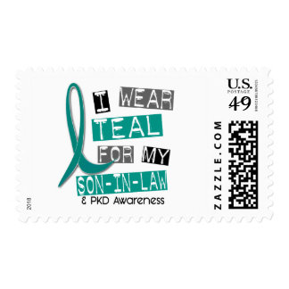 Polycystic Kidney Disease PKD Teal For Son-In-Law Postage
