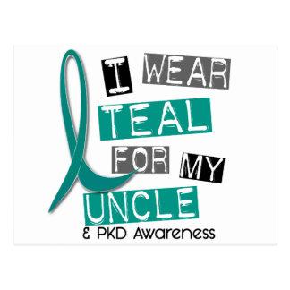 Polycystic Kidney Disease PKD Teal For Uncle 37 Postcard