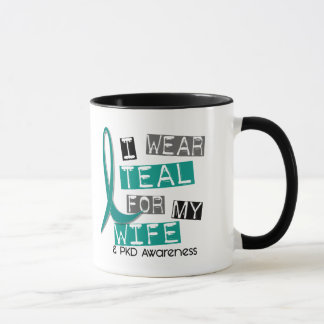Polycystic Kidney Disease PKD Teal For Wife 37 Mug