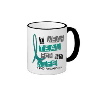 Polycystic Kidney Disease PKD Teal For Wife 37 Ringer Mug