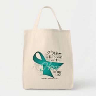 Polycystic Kidney Disease Ribbon Hero in My Life Bags