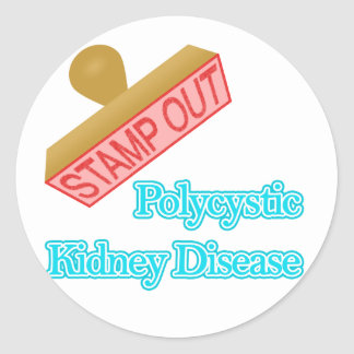 Polycystic Kidney Disease Round Stickers