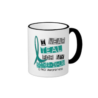 Polycystic Kidney Disease Teal For Brother-In-Law Ringer Coffee Mug