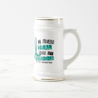 Polycystic Kidney Disease Teal For Brother-In-Law 18 Oz Beer Stein