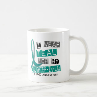 Polycystic Kidney Disease Teal For Daughter-In-Law Coffee Mug