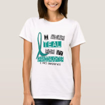 Polycystic Kidney Disease Teal For Granddaughter T-Shirt
