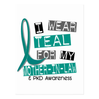 Polycystic Kidney Disease Teal For Mother-In-Law Postcard