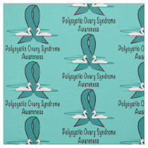Polycystic Ovary Syndrome Awareness Swans of Hope Fabric