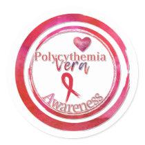 Polycythemia Vera Awareness Envelope Seals