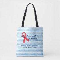 Polycythemia Vera Awareness Striped Tote Bag