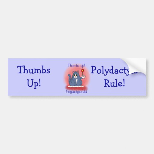 Polydactyls Rule! Bumper Sticker