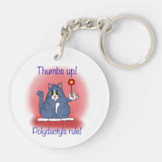 Polydactyls Rule Round Acrylic Key Chains