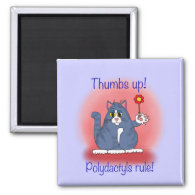 Polydactyls Rule! Refrigerator Magnets