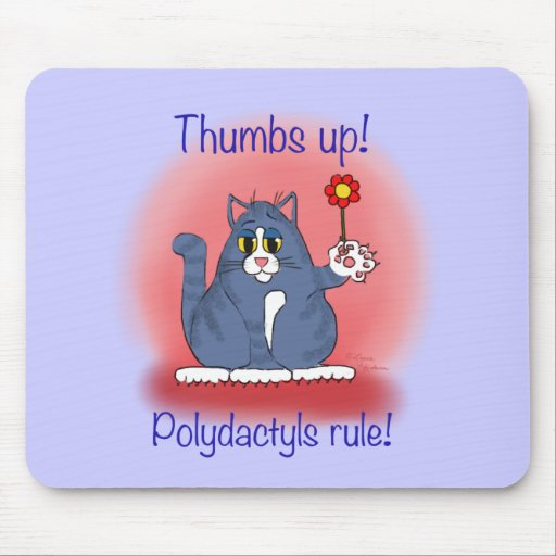Polydactyls Rule! Mouse Pad