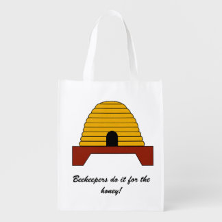 Polyester Bag - Beekeepers Do it for the Honey Reusable Grocery Bags