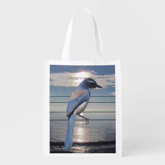 Polyester Bag - Blue Jay at Sunset