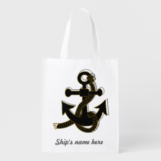 Polyester Bag - Boat Anchor and Name Market Tote