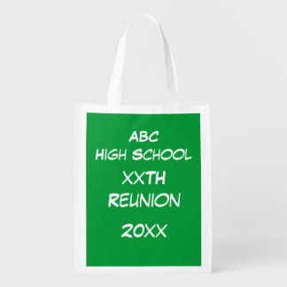 Polyester Bag - Green Chalk Board Market Tote